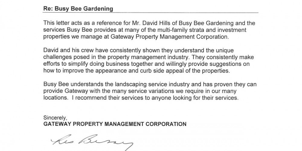 Busy Bee Landscaping on Property Management Modesto Ca