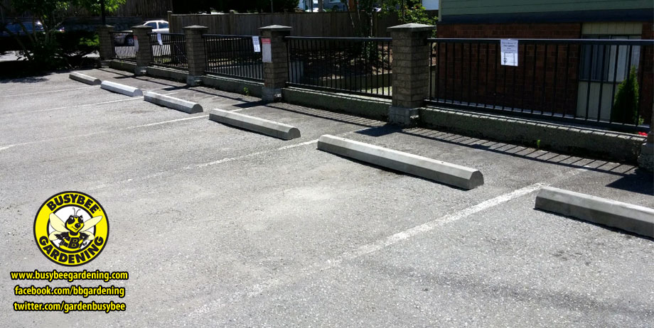 Parking barriers installed by Busybee